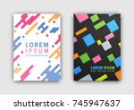 coverings collection of two... | Shutterstock .eps vector #745947637