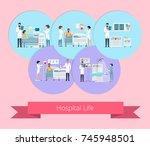 hospital life visualization... | Shutterstock .eps vector #745948501