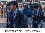 tokyo  japan   october 30th ... | Shutterstock . vector #745949479