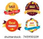 best sale 2017 autumn discount... | Shutterstock .eps vector #745950109