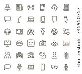 message icon set. collection of ...   Shutterstock .eps vector #745950757