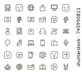 message icon set. collection of ...   Shutterstock .eps vector #745950811
