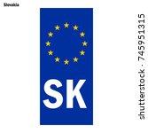 vehicle registration plates of...   Shutterstock .eps vector #745951315