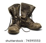 Old And Dirty Military Boots...