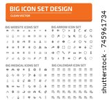 big icon set vector   | Shutterstock .eps vector #745961734