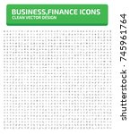 business and finance icon set... | Shutterstock .eps vector #745961764