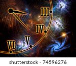 interplay of time symbols ... | Shutterstock . vector #74596276