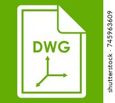file dwg icon white isolated on ...