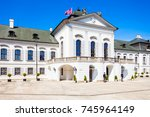 the grassalkovich palace is a... | Shutterstock . vector #745964149
