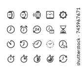 time and clock glyph icons | Shutterstock .eps vector #745967671