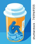 opioid and prescription drug... | Shutterstock .eps vector #745969555