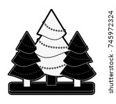 christmas related icon image | Shutterstock .eps vector #745972324