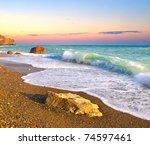 Bright Seascape. Composition Of ...