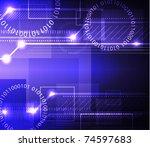 stylized glowing background... | Shutterstock . vector #74597683