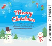 christmas background with... | Shutterstock .eps vector #745980517