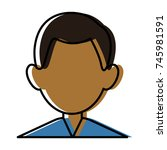 man faceless avatar | Shutterstock .eps vector #745981591