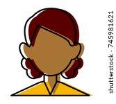 woman faceless avatar | Shutterstock .eps vector #745981621