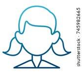 woman faceless avatar | Shutterstock .eps vector #745982665