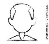 man faceless avatar | Shutterstock .eps vector #745986331