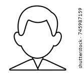 man faceless avatar | Shutterstock .eps vector #745987159