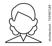 man faceless avatar | Shutterstock .eps vector #745987189