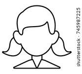 man faceless avatar | Shutterstock .eps vector #745987225