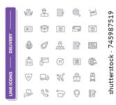 line icons set. delivery pack. ...