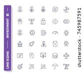 line icons set. investment pack ...