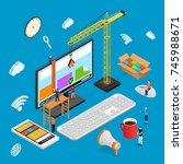 design usability concept... | Shutterstock .eps vector #745988671