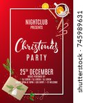 promo flyer for christmas party.... | Shutterstock .eps vector #745989631