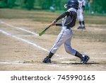 baseball kids   Shutterstock . vector #745990165
