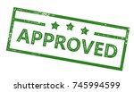 approved stamp | Shutterstock .eps vector #745994599