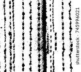 grunge black white. monochrome... | Shutterstock .eps vector #745996021