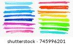 highlight brush underline hand... | Shutterstock .eps vector #745996201