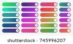 web buttons flat design... | Shutterstock .eps vector #745996207