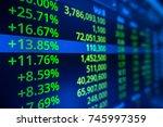 stock market graph analysis.... | Shutterstock . vector #745997359