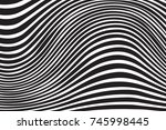 optical illusion. distorted... | Shutterstock .eps vector #745998445
