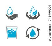 water icons   Shutterstock .eps vector #745999009
