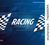 racing square background with... | Shutterstock .eps vector #746000095