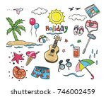 variation of doodle white army  ... | Shutterstock .eps vector #746002459
