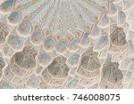the ceiling is carved with... | Shutterstock . vector #746008075
