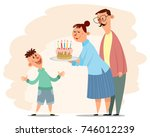 vector illustration of parents... | Shutterstock .eps vector #746012239