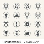 set of medals and awards icons  ...   Shutterstock .eps vector #746012644