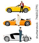 vector illustration of arab men ... | Shutterstock .eps vector #746012791