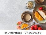 traditional european breakfast. ...   Shutterstock . vector #746014159