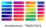 web buttons flat design... | Shutterstock .eps vector #746017621