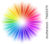 vector abstract rainbow... | Shutterstock .eps vector #74602474