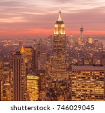 view of new york manhattan... | Shutterstock . vector #746029045