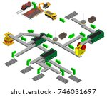 slag crushed stone production... | Shutterstock .eps vector #746031697