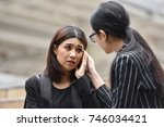 young asian business woman... | Shutterstock . vector #746034421